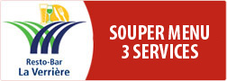 Souper 3 services - menu